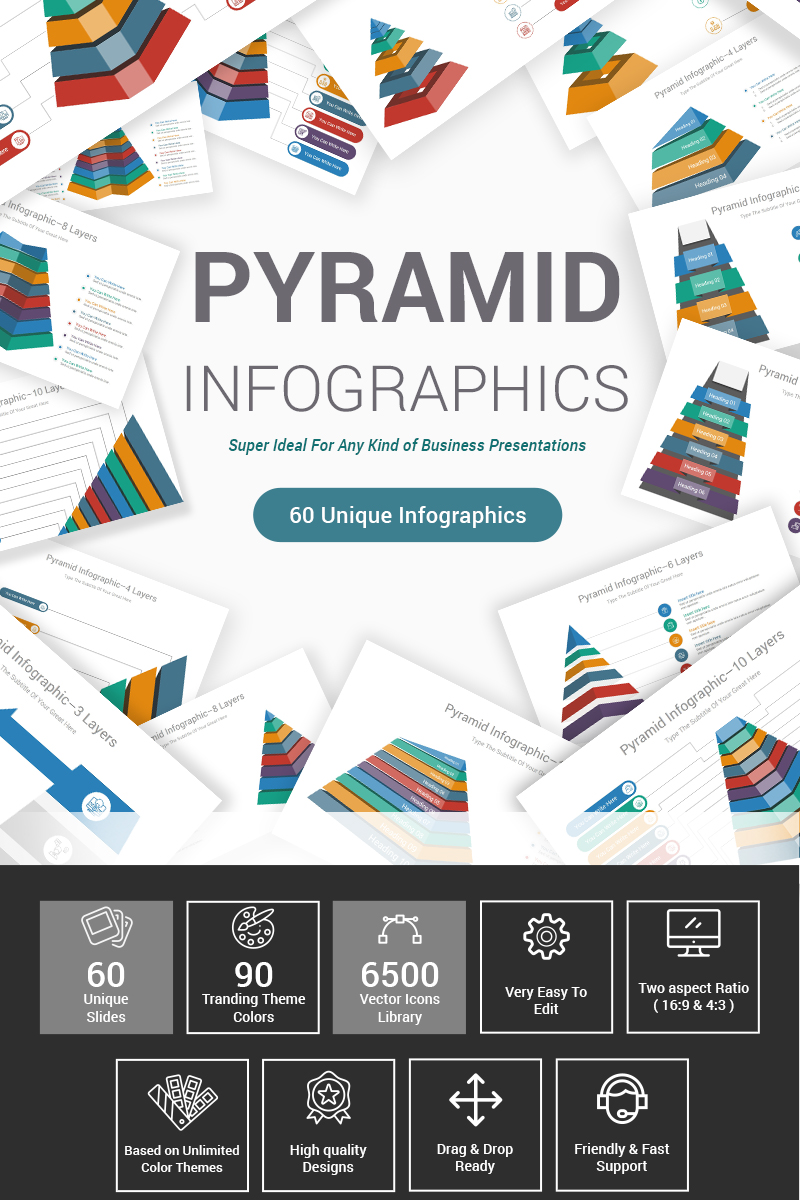 Premium Pyramid Diagrams PowerPointmall #87599