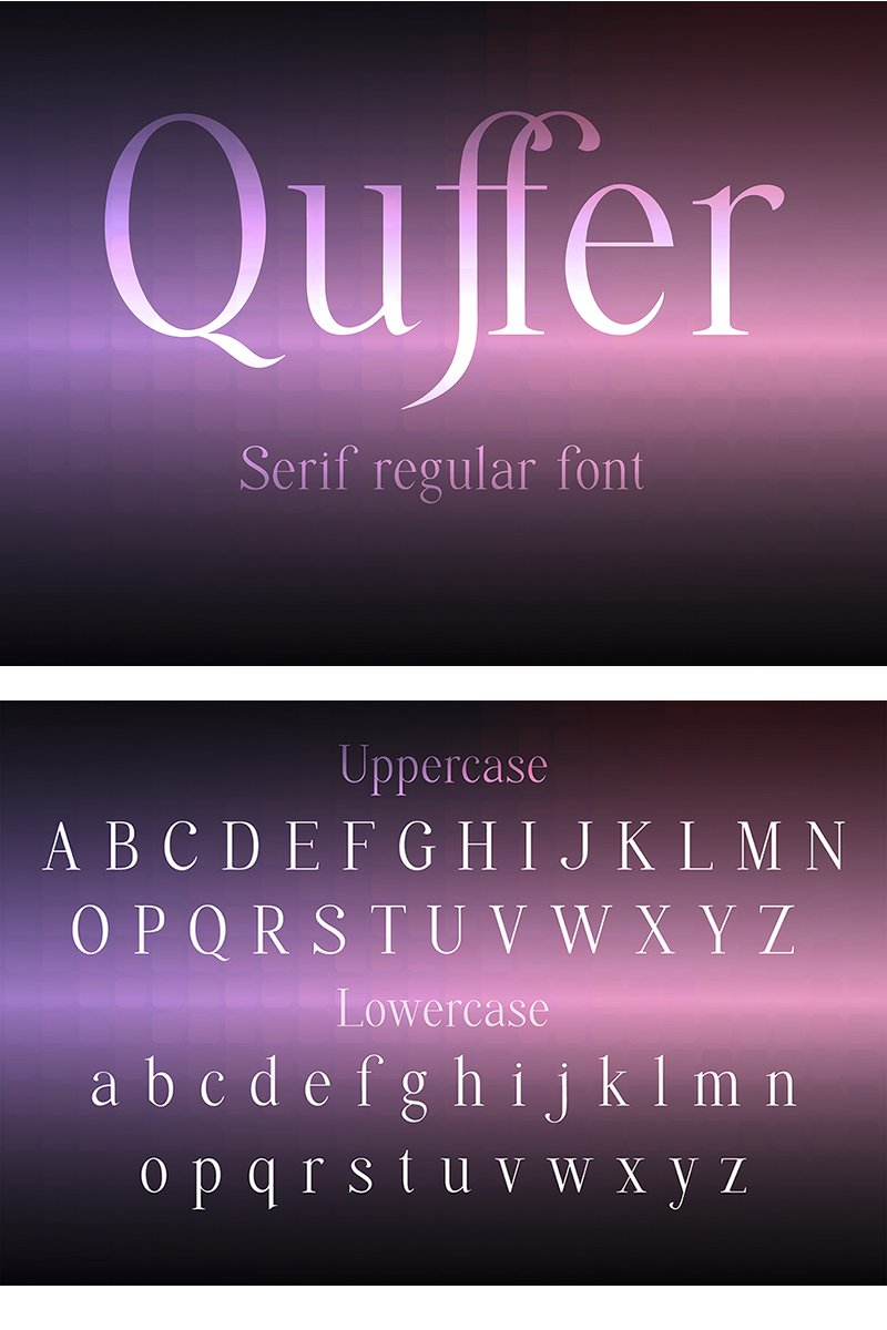 """""""Quffer"""" Lettertype №87577"""