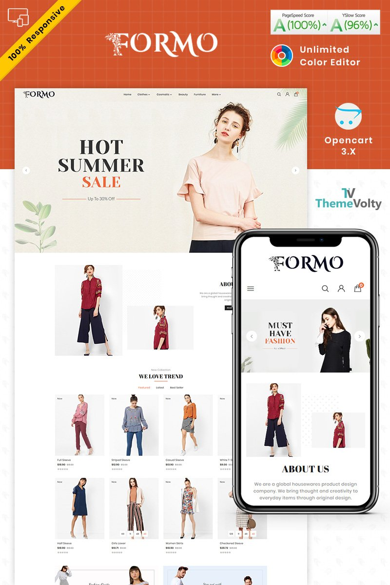 Responsivt Formo Fashion Store OpenCart-mall #87516