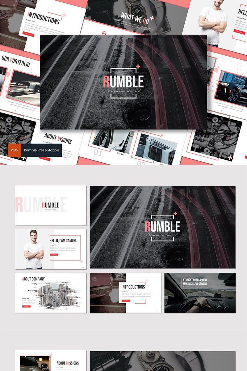 """Rumble"" PowerPoint Template №87596"