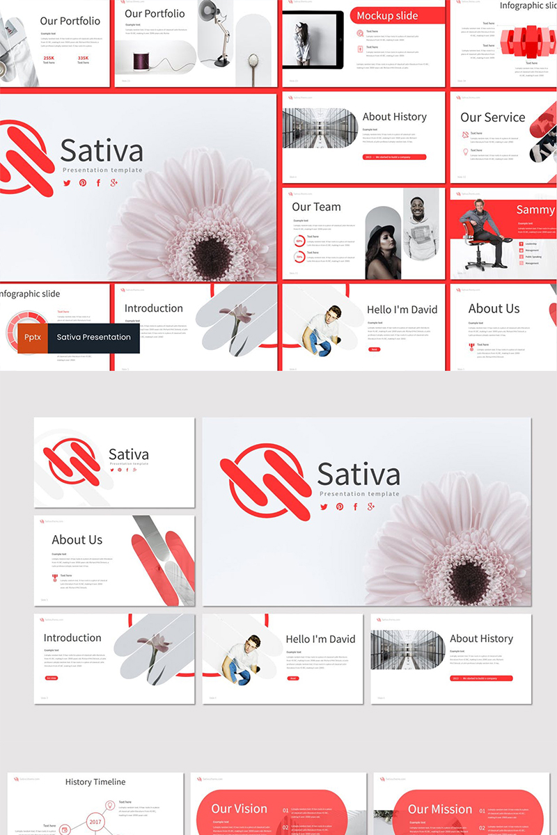 Sativa PowerPoint sablon 87592