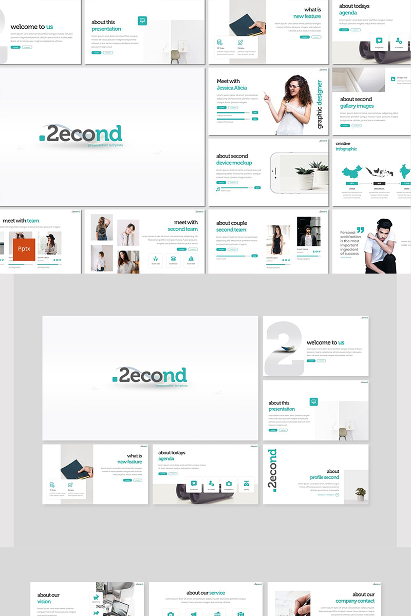 """Second"" PowerPoint Template №87590"
