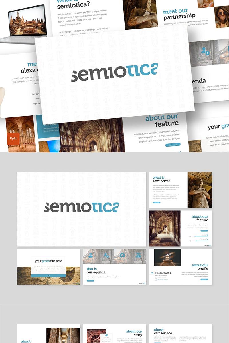 Semiotica PowerPoint sablon 87589