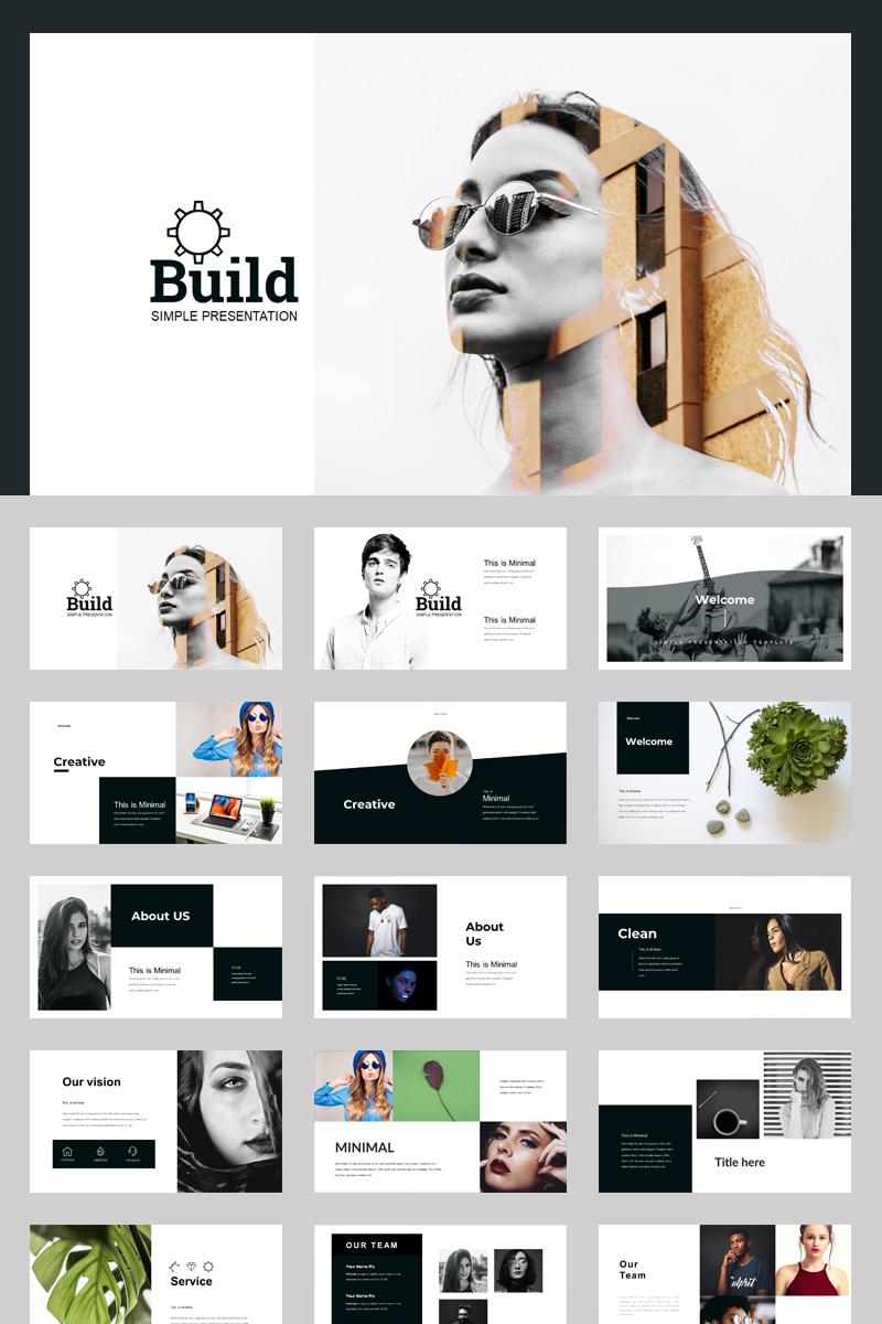 Szablon PowerPoint Black Build Corporate Presentation #87587