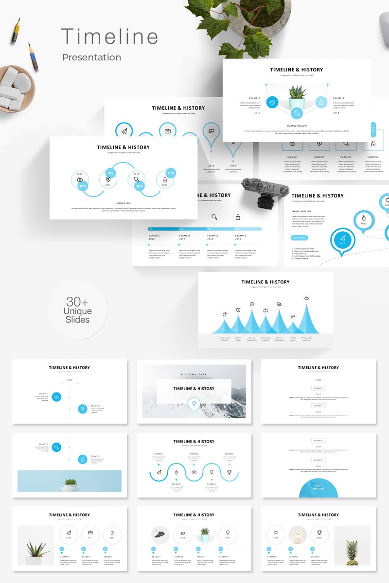 Timeline & History Presentation PowerPoint Template
