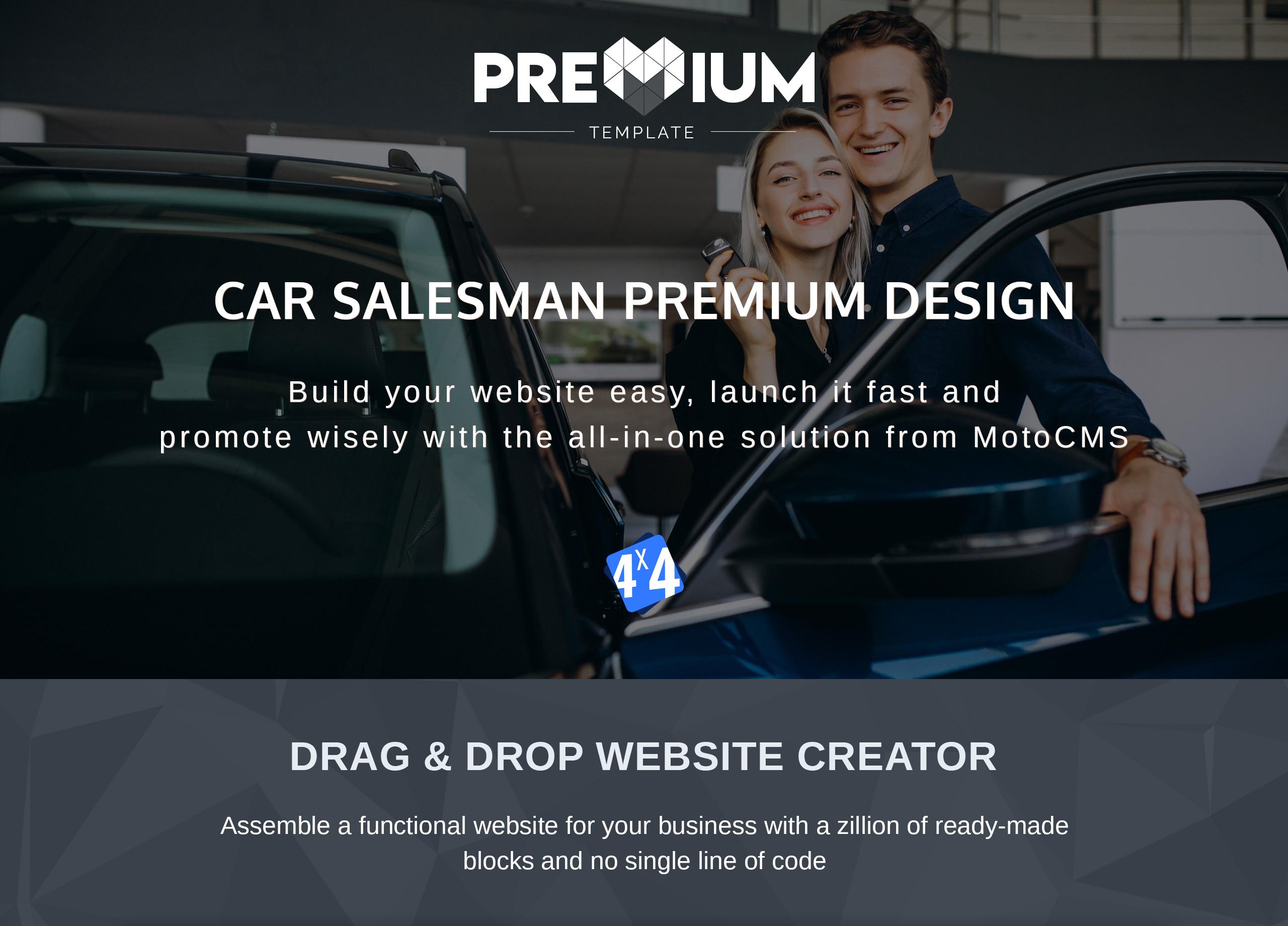 Car Salesman Moto CMS 3 Template