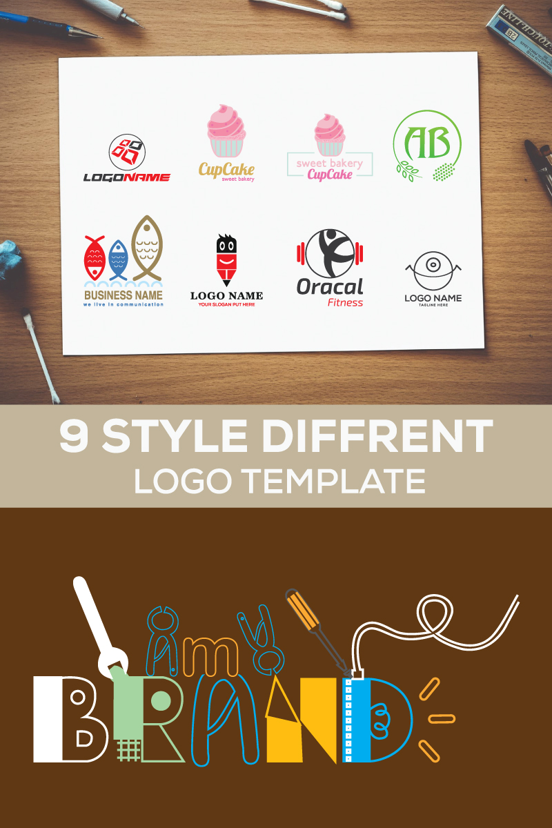 """Best Nine Style Different"" Logo template №87696"