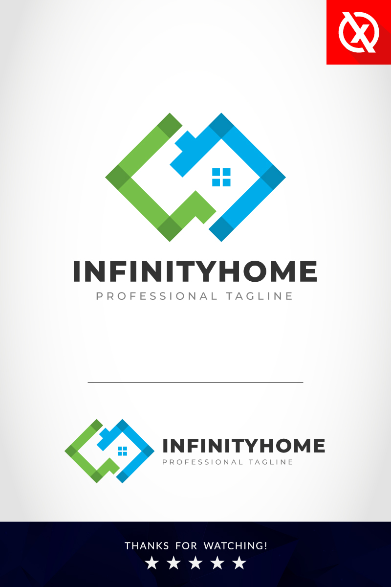 """Creative Infinity Home"" modèle logo Premium #87692"