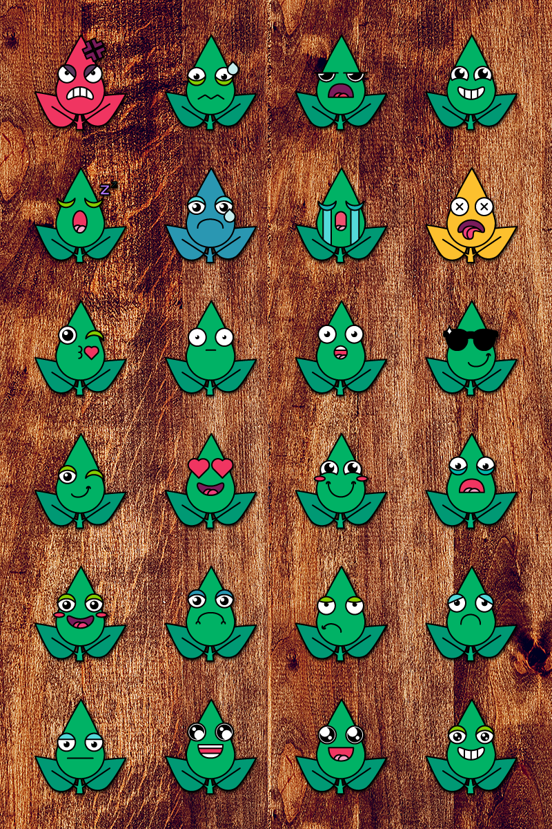 Eco Smiles Set Ilustração №87647