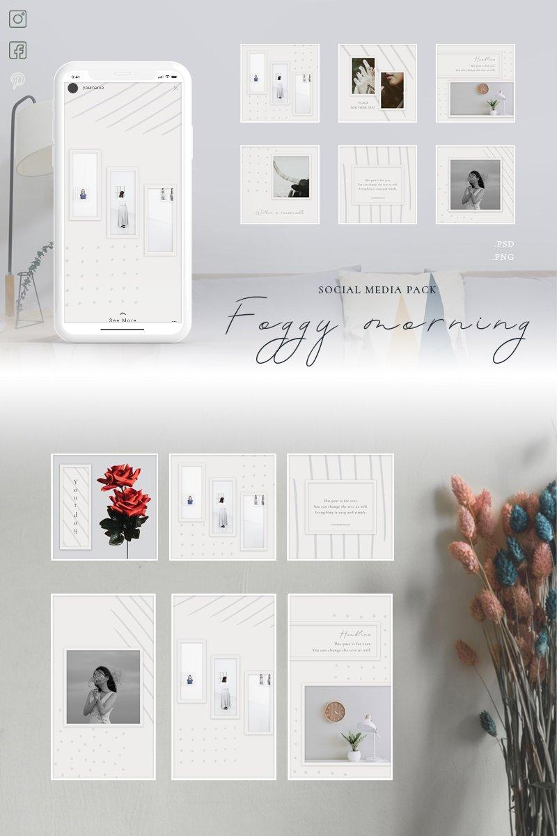 """Foggy morning - Pack"" - Шаблон для соцмереж №87666"