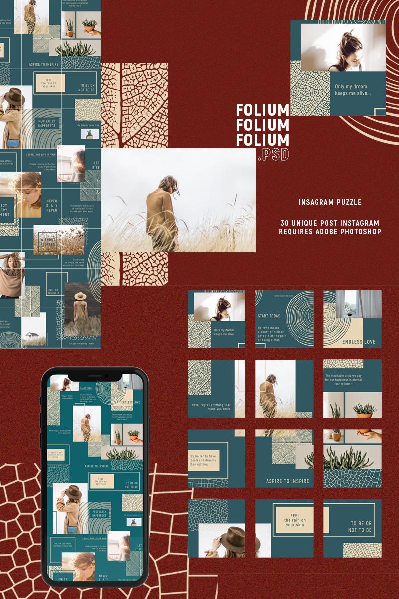 """""""FOLIUM - Instagram Puzzle"""" média social  #87667"""