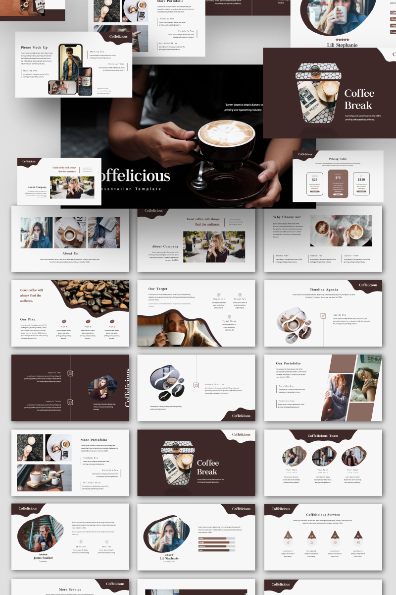"Google Slides ""Coffelicious"" #87613"