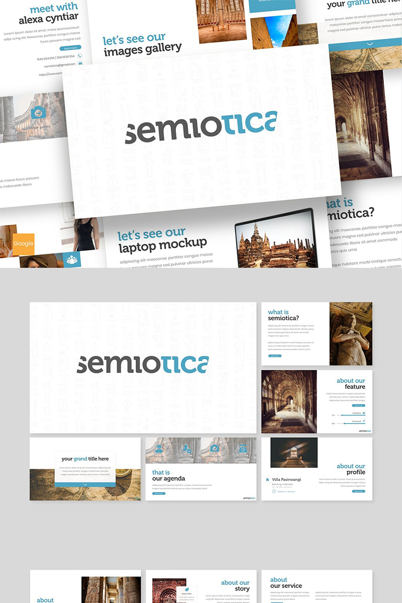 "Google Slides ""Semiotica"" #87608"