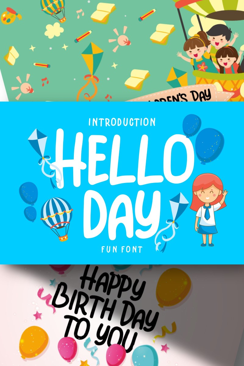 Hello Day | Kids Fun Font - screenshot