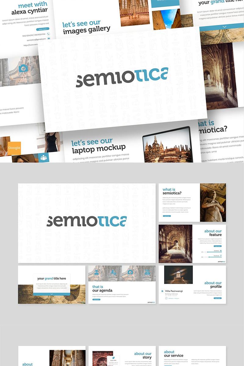 "Modello Google Slides #87608 ""Semiotica"""
