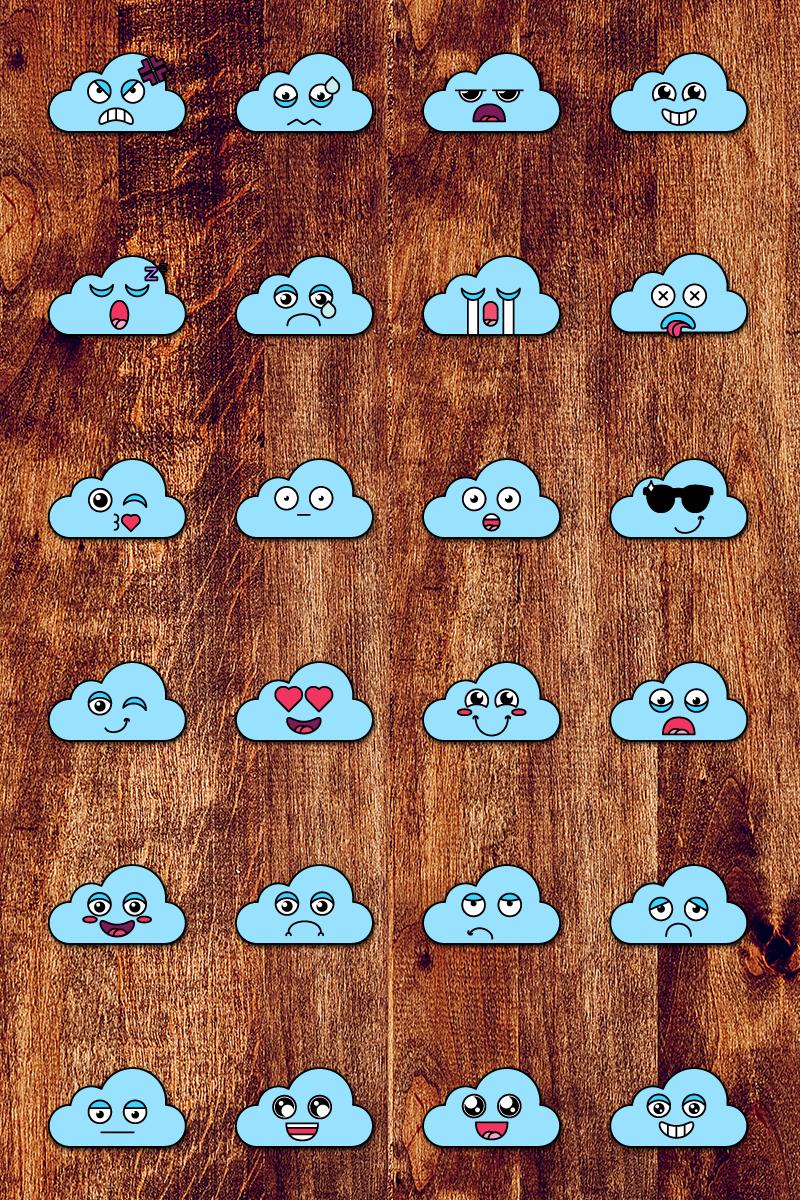 Nice Cloud Smiles Set Ilustração №87645