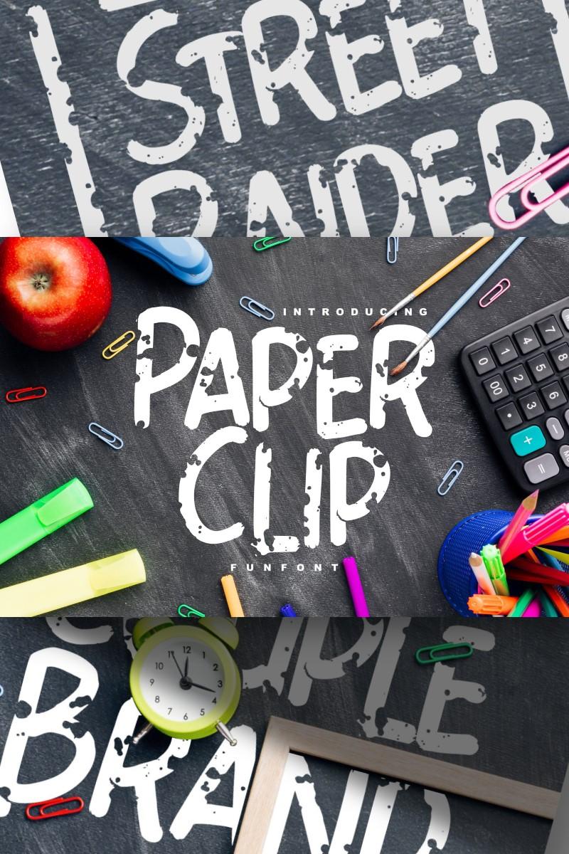 """Paper Clip | Decorative Fun"" police de caractère  #87655"