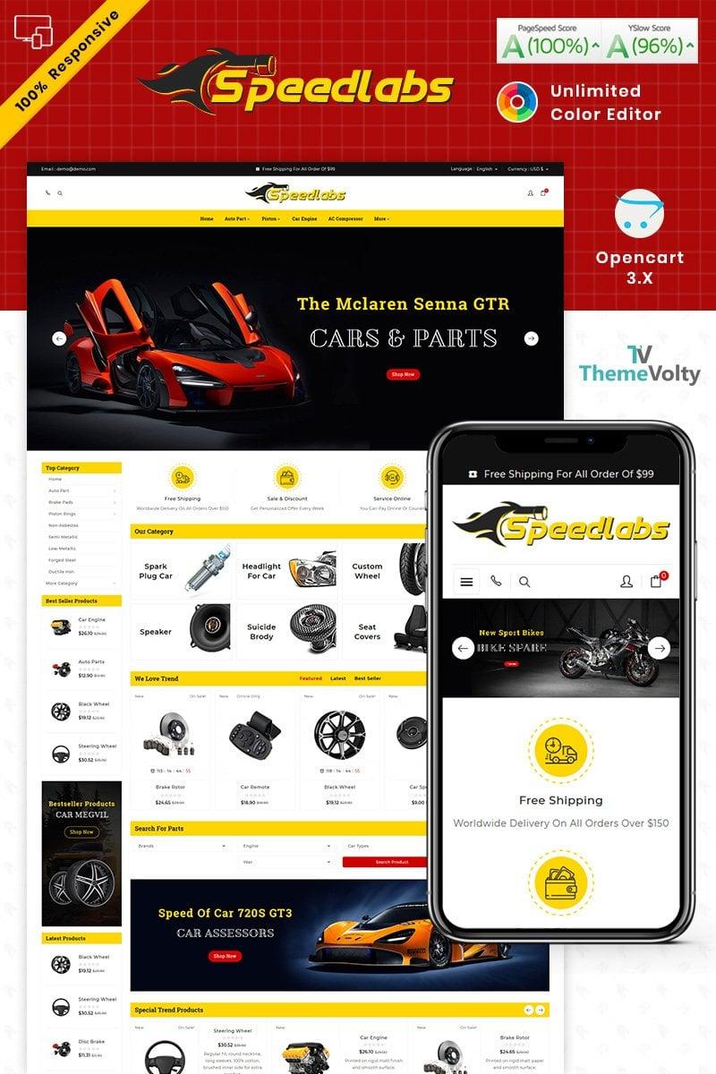 "Plantilla OpenCart ""Speed Labs AutoPart Store"" #87661"