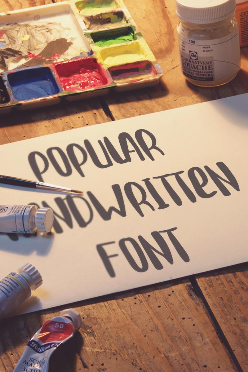 """Popular"" Lettertype №87665"