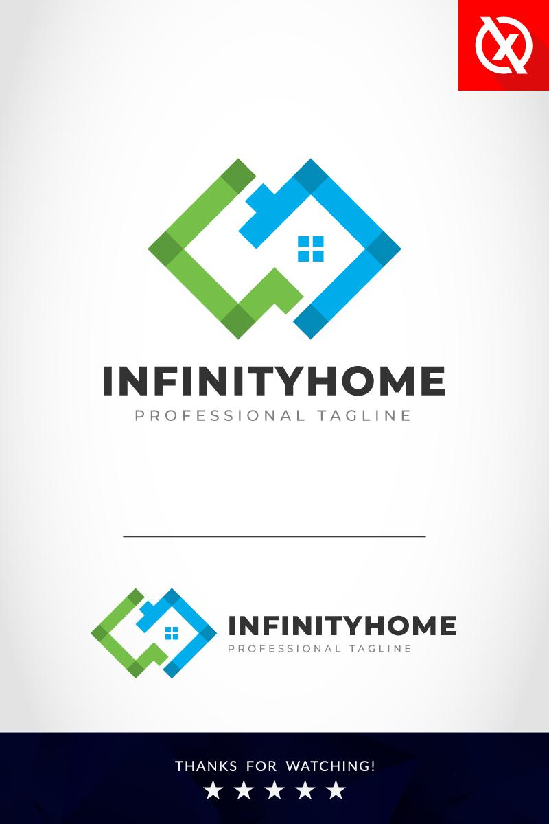Prémium Creative Infinity Home Logó sablon 87692
