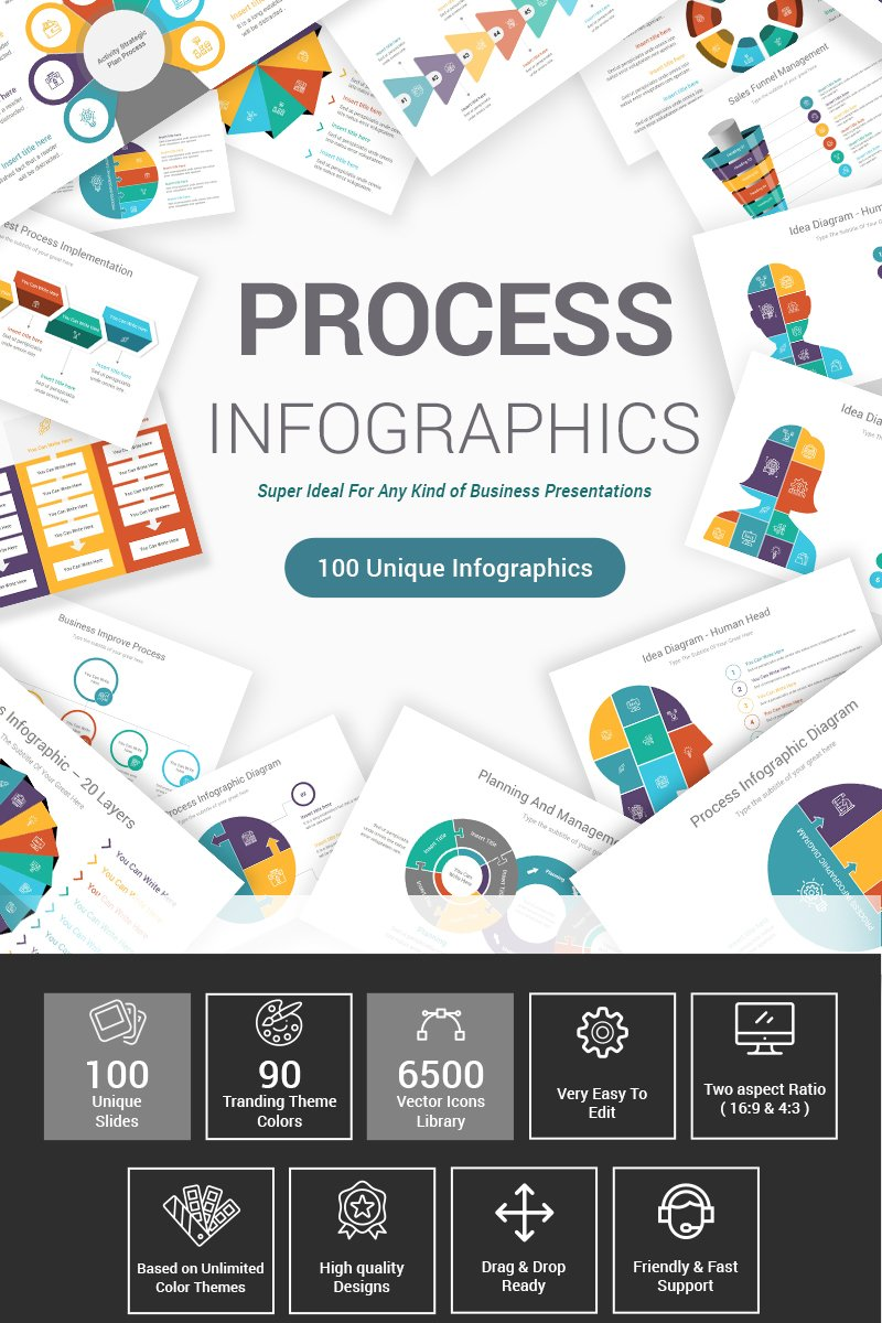 Premium Process Infographics Pack PowerPointmall #87600