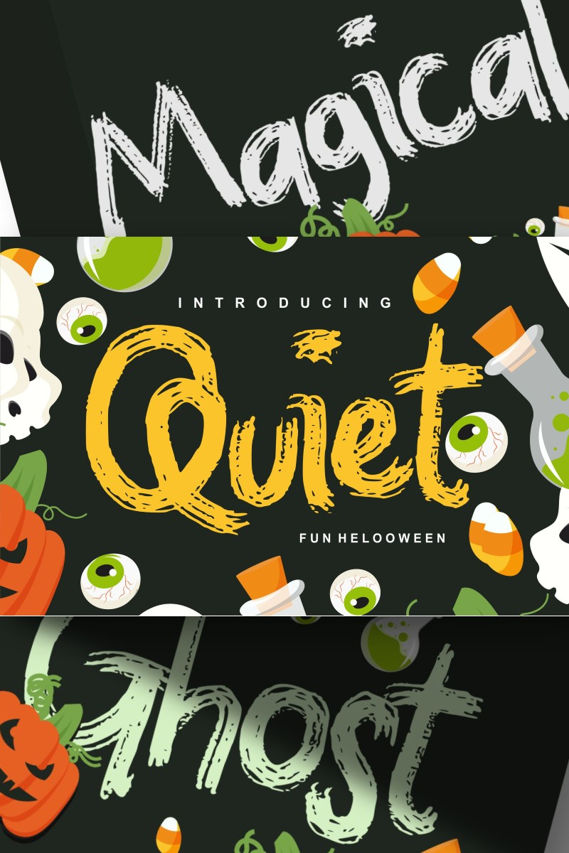 """Quiet | Magical Helloween"" police de caractère  #87658"