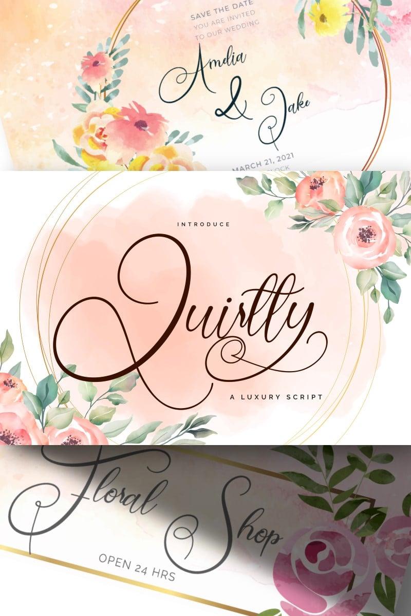 Quirtty | A Luxury Script Fonte №87650 - captura de tela