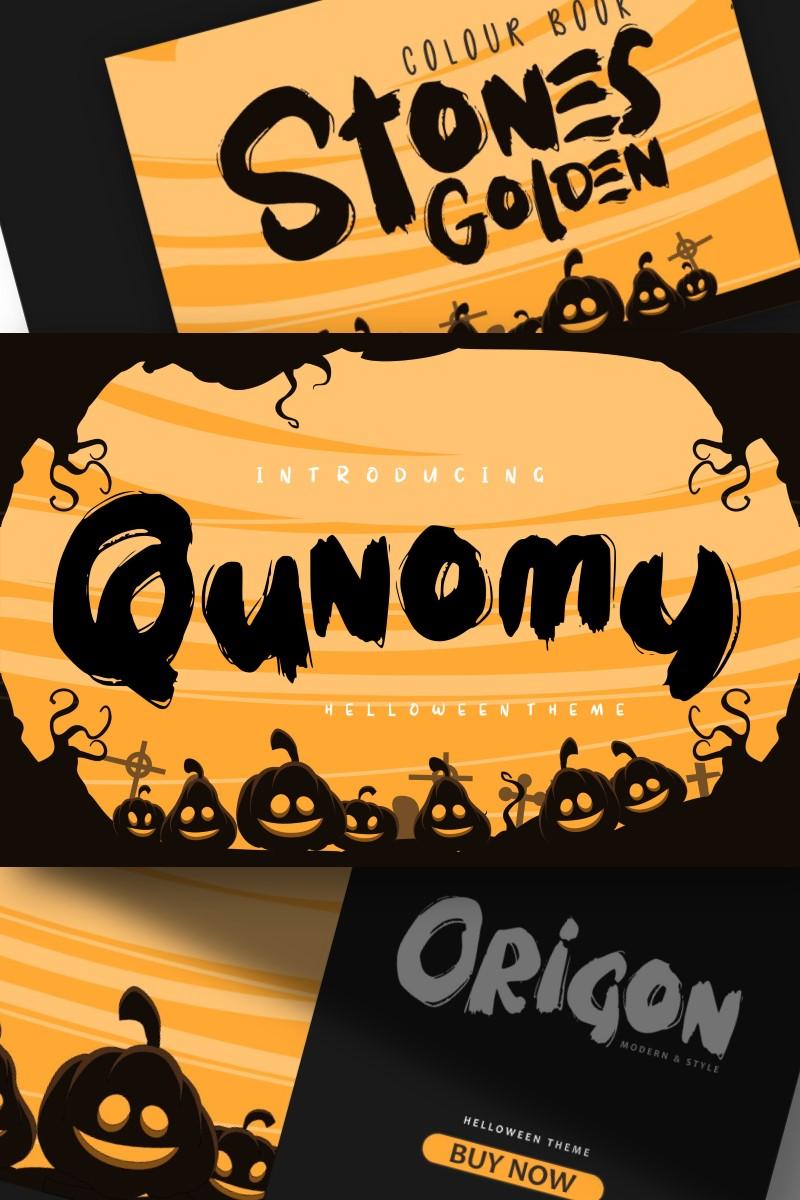 """Qunomy | Helloween  Theme"" Lettertype №87657"