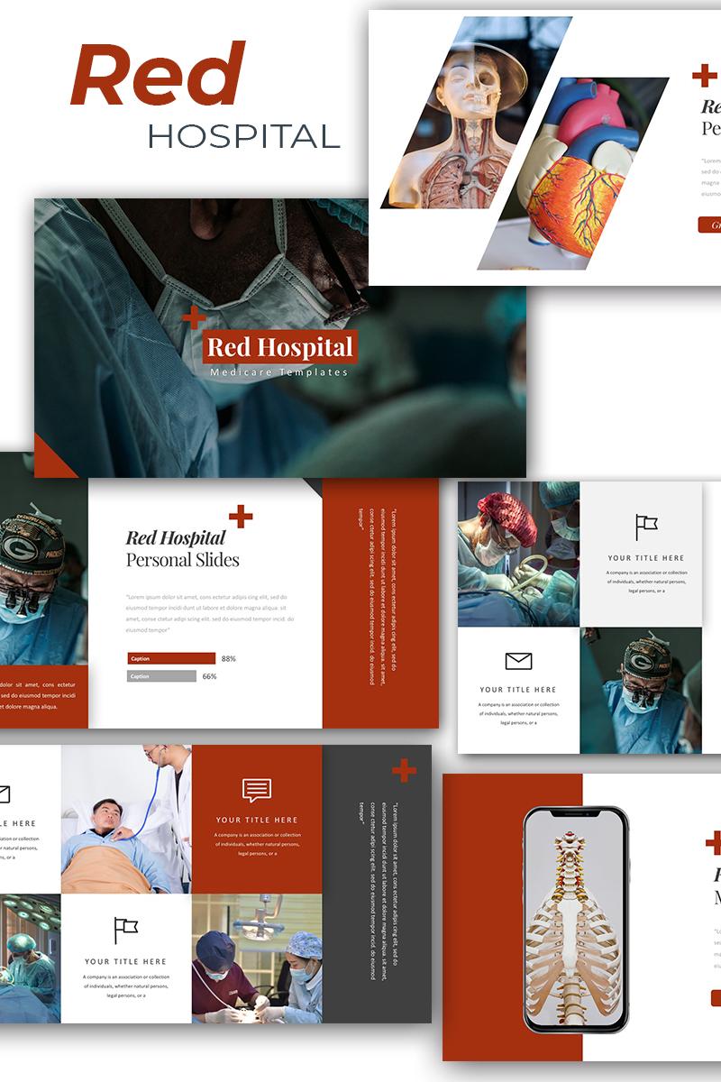Reszponzív Red Hospital Medical PowerPoint sablon 87606
