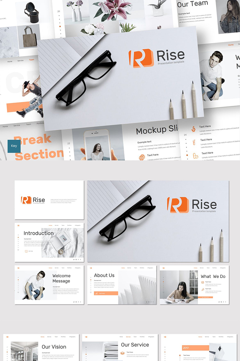"""Rise"" - Keynote шаблон №87625"