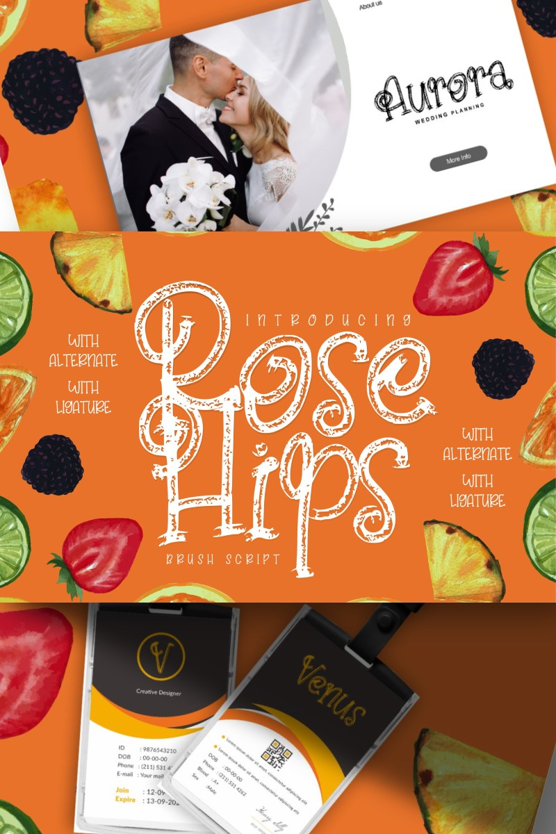 Rose Hips | Decorative Fruit Font