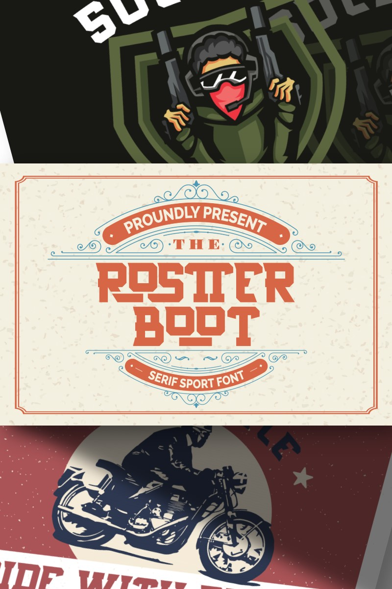 Rostter Boot | Serif Sport Yazıtipi #87652