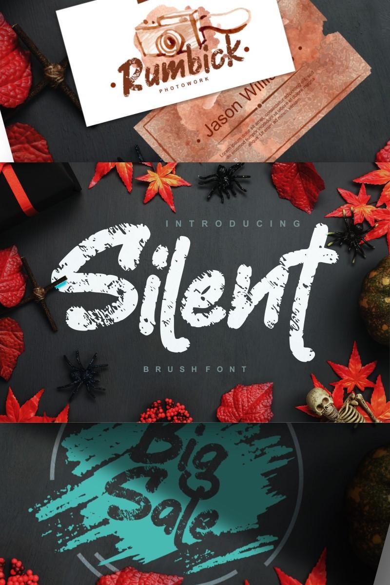 """Silent | Decorative Brush"" Lettertype №87651"