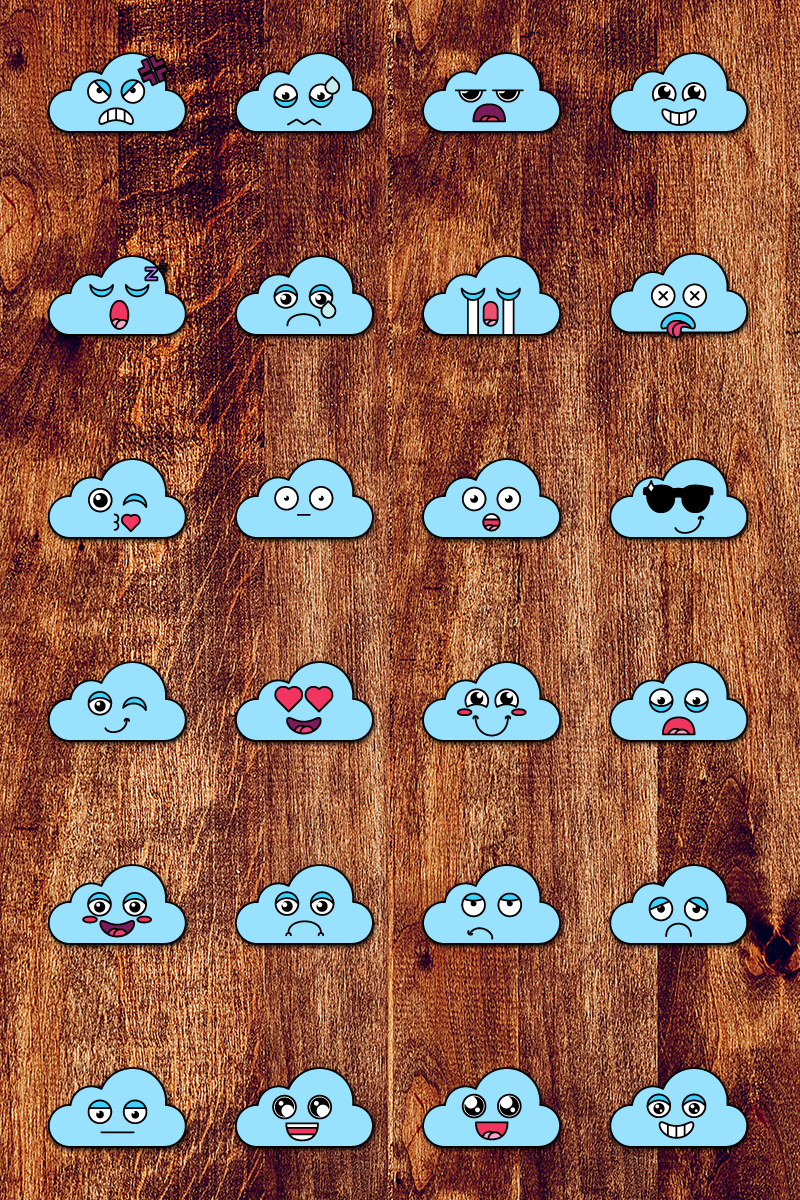 "Tema Illustrazione #87645 ""Nice Cloud Smiles Set"""