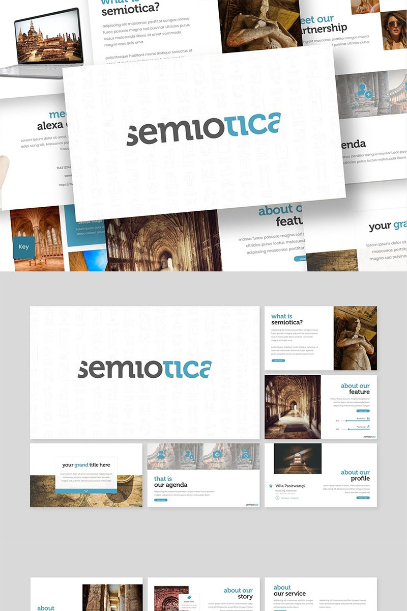 "Tema Keynote #87618 ""Semiotica"""