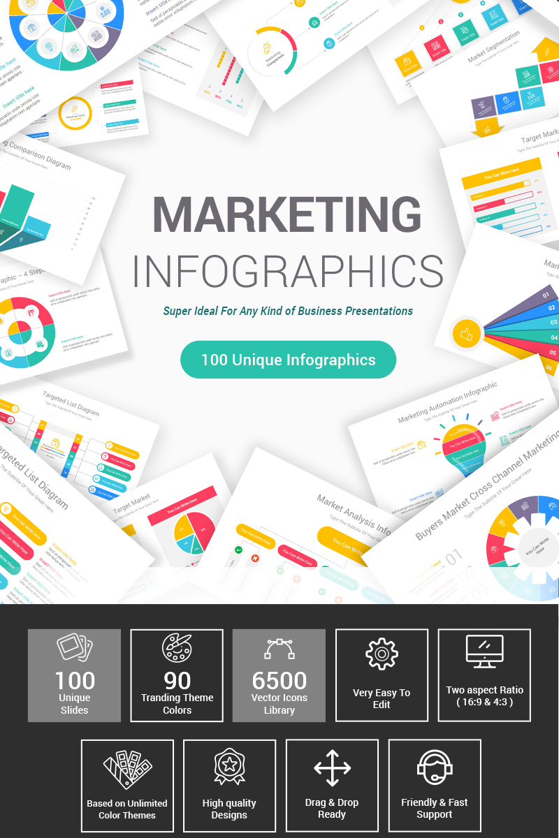 """Template PowerPoint #87601 """"Marketing Diagrams"""""""