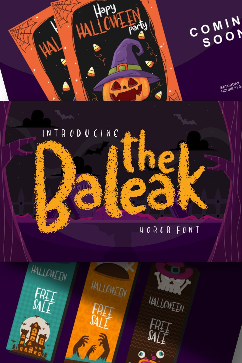 The baleak | Decorative Horror Fonte №87654