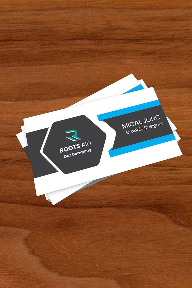 """Unternehmensidentität Vorlage namens """"Roots Business Card"""" #87688"""