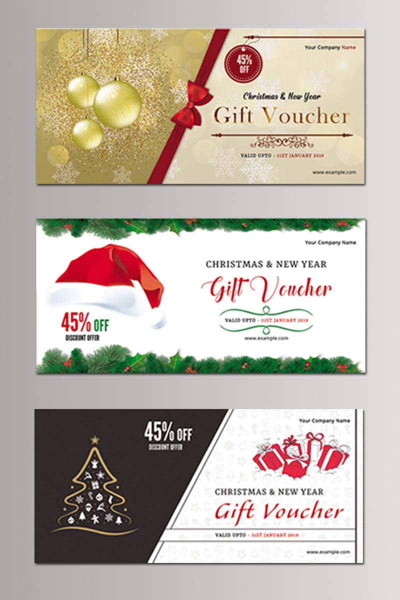 """Unternehmensidentität Vorlage namens """"Sistec Christmas Gift Voucher"""" #87681"""