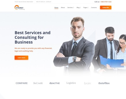 Synergy - Consulting Agency Multipage HTML Website Template