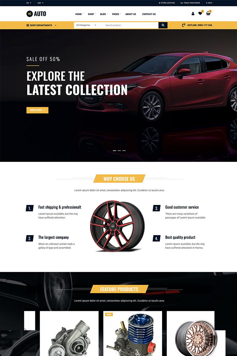Auto Repair - Car Mechanic Services WooCommerce sablon 87742