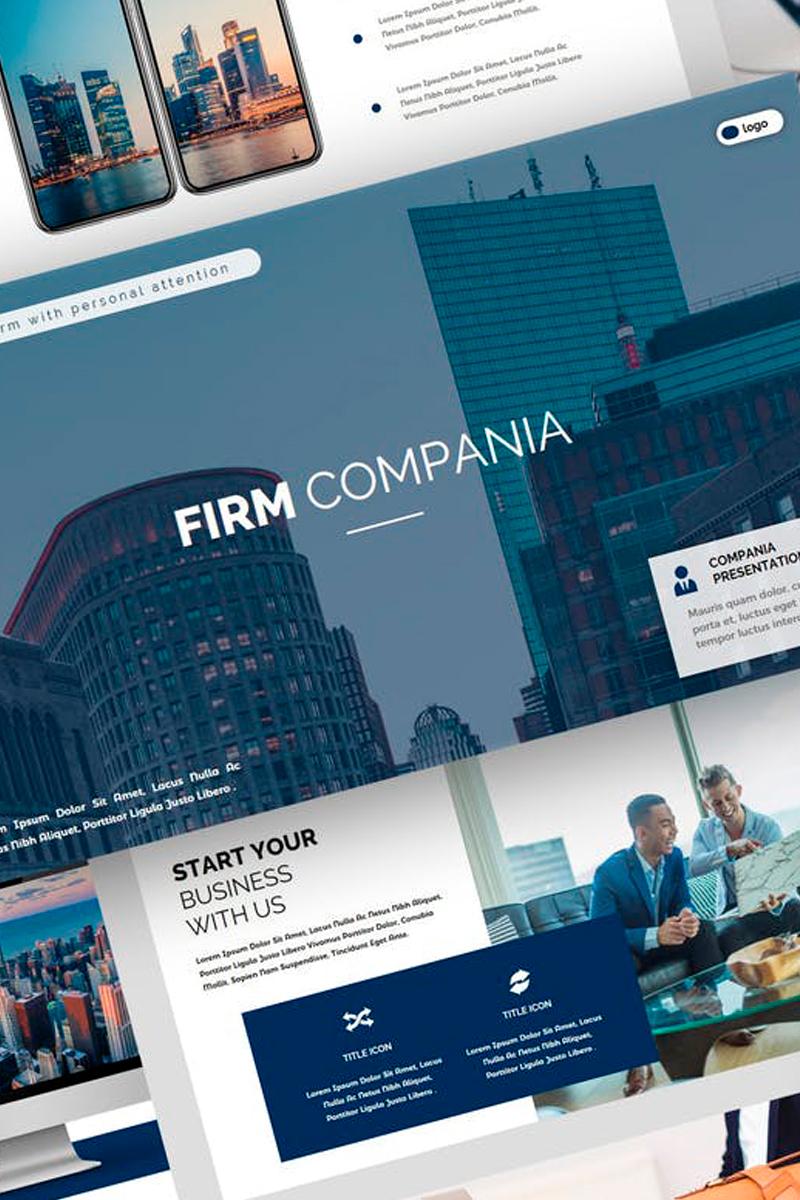 """""""Compania - Firm Presentation"""" Keynote Template №87732"""