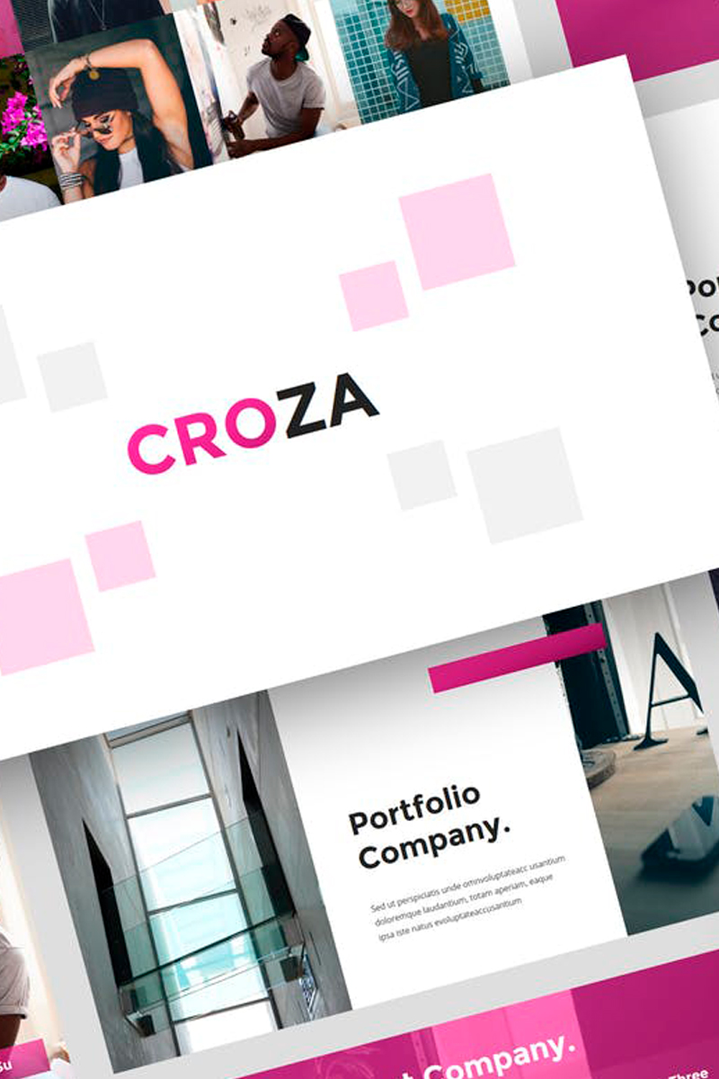 """Croza - Creative Presentation"" Keynote Template №87729"