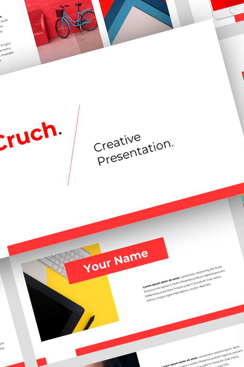 """Cruch - Creative Presentation"" Keynote Template №87730"