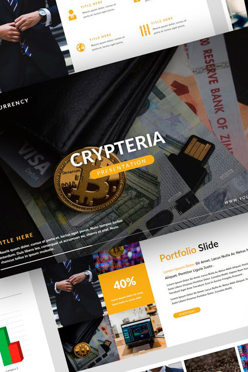 """Crypteria - Cryptocurrency Presentation"" modèle Keynote  #87734"