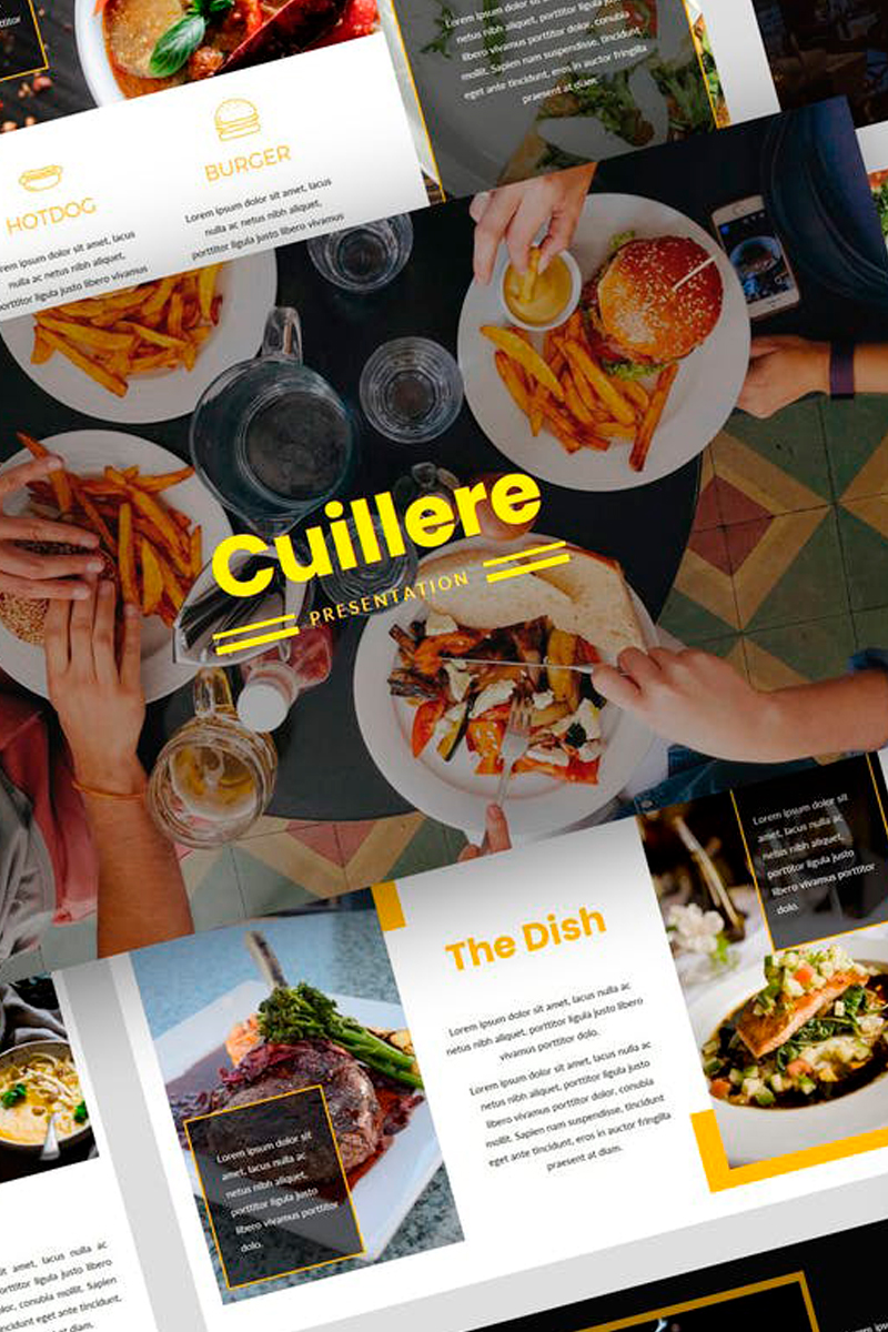 """Cuillere - Restaurant Presentation"" Keynote Template №87733"