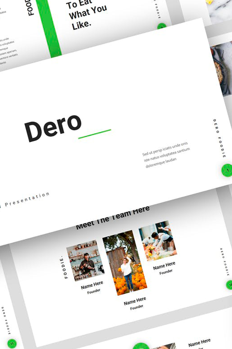 """Dero - Food Presentation"" Keynote Template №87727"