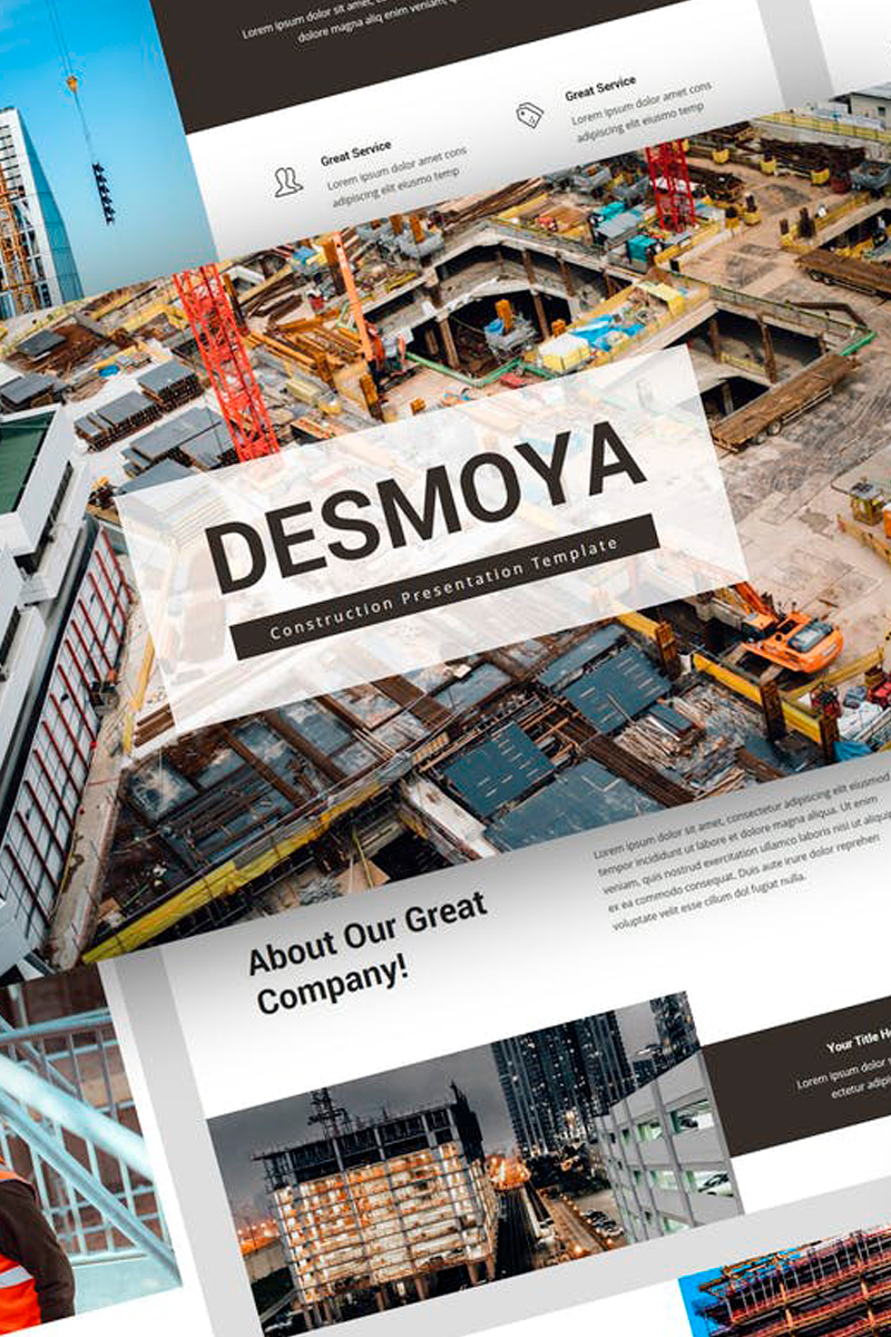 """Desmoya - Construction Presentation"" modèle Keynote  #87725"