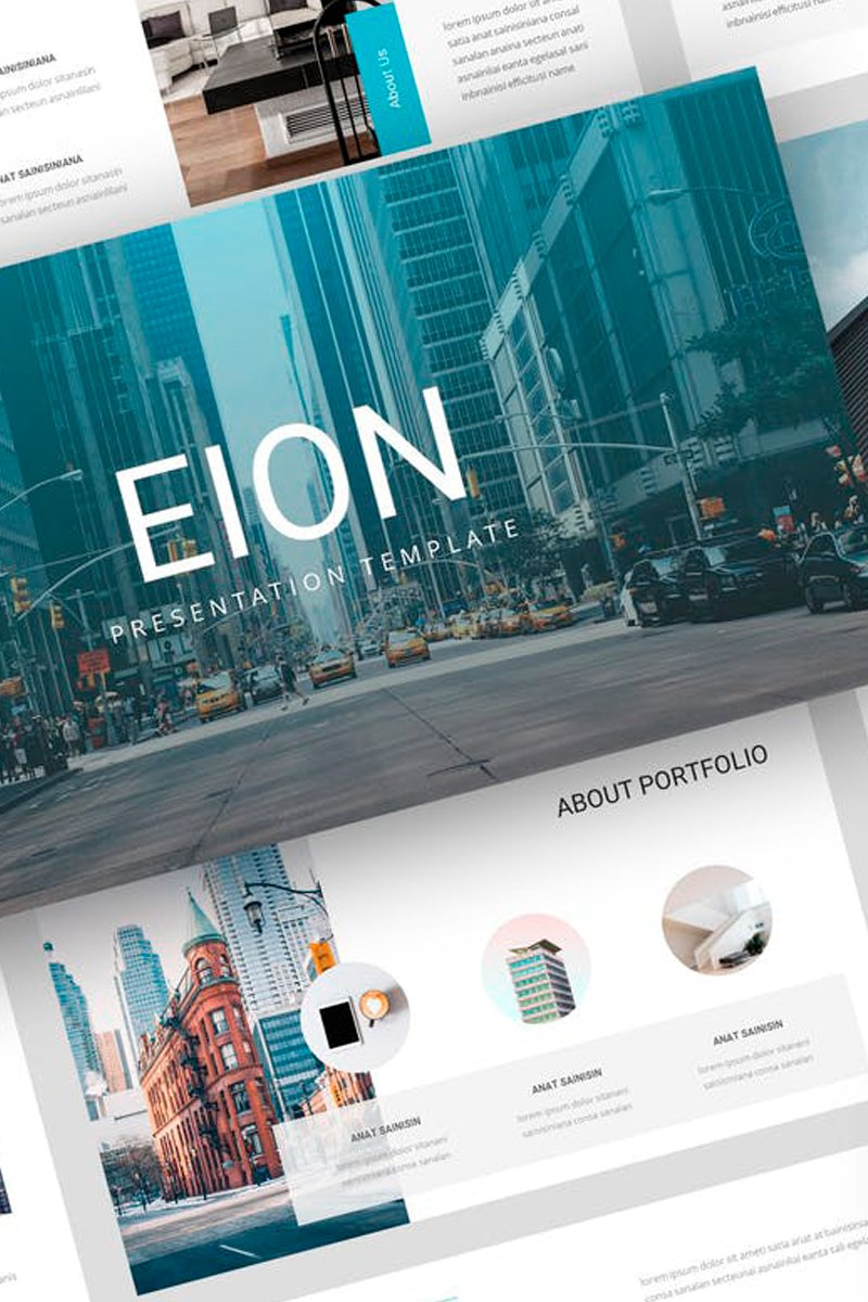 """Eion - Corporate Presentation"" Keynote Template №87724"