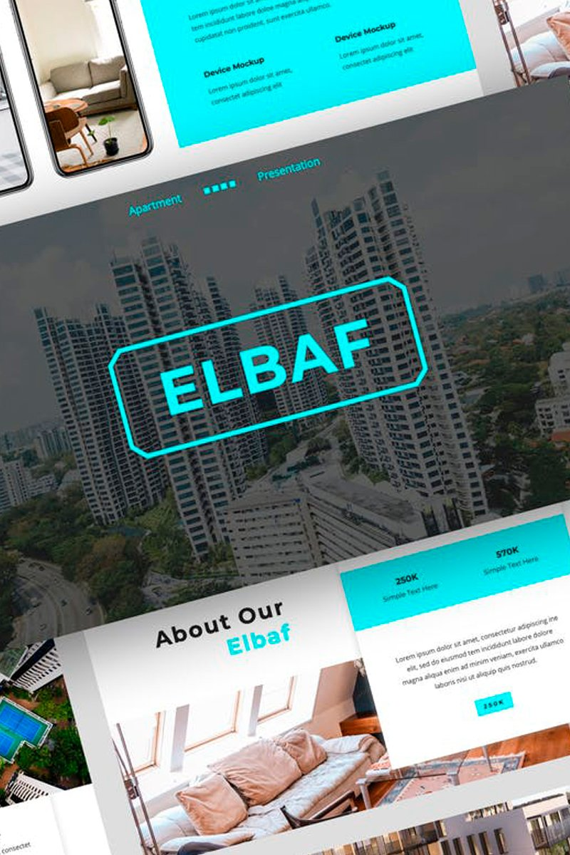 """Elbaf - Apartment Presentation"" Keynote Template №87722"